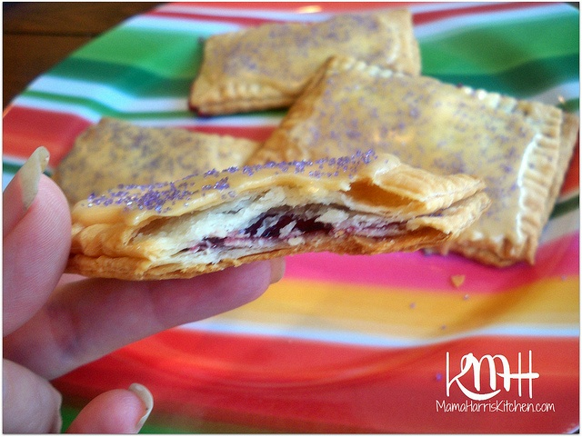 Peanut Butter and Jelly Pop Tarts. Made with pre made pie crust, grape ...