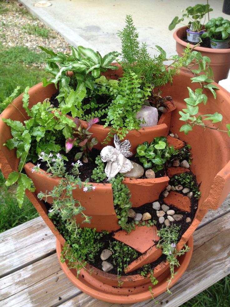 Garden fairy pot Ideas from my garden Pinterest