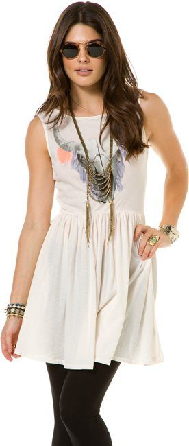 wear with pants WILDFOX CHERIE SKULL BABY DOLL DRESS > Womens