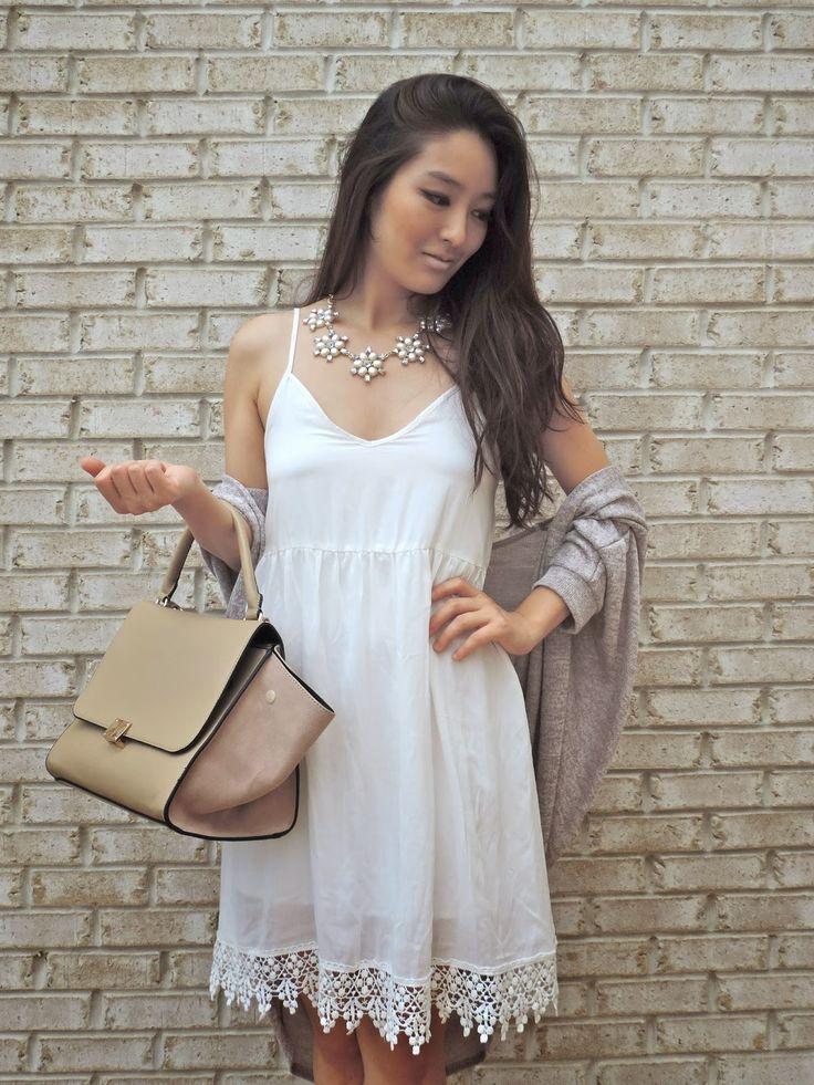 Sensible Stylista in a Deb Shops slip dress