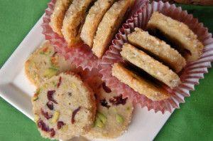 Pistachio Cranberry Icebox Cookies | Best Cookie Recipes | Pinterest