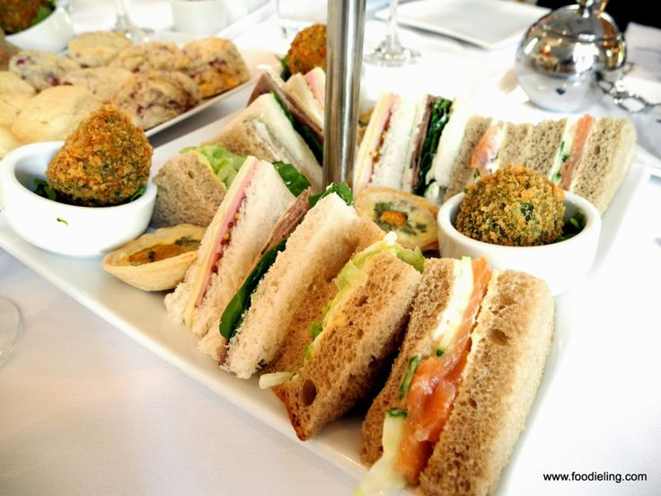 ... smoked salmon and cucumber sandwich, roast beef spinach and