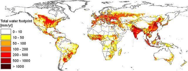 Consumo de agua , nivel mundial