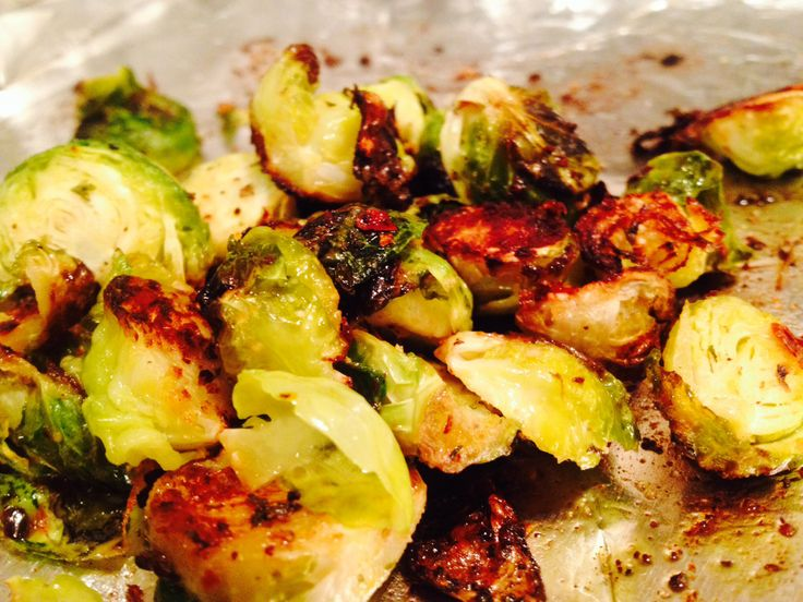 ... olive oil, salt & pepper, and red pepper flake Coat cut brussel