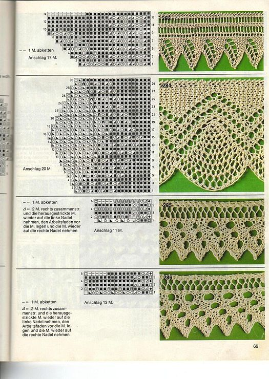 knitted lace edging, not english Knitting ? Stitches Pinterest