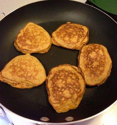 Sweet Potato Pie Pancakes w/almond flour and coconut flour