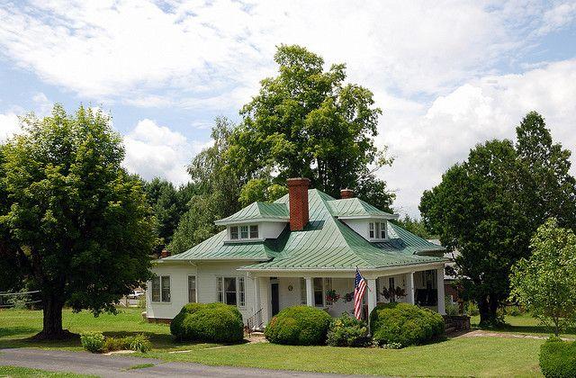 green metal roof house exteriors pinterest