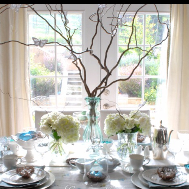 explore tree branch centerpieces