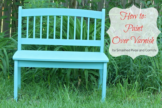 Smashed Peas and Carrots: Furniture Rehab: Painting Over Varnished Wood