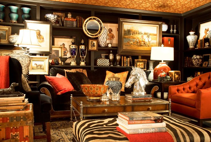 Interiors | Gary Riggs Home...I would edit out some of this, but the colors are just awesome!