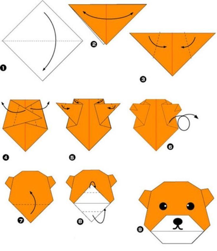 Оригами из бумаги животные по схемам легко 34