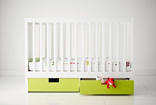 ikea cribs with these cool drawers underneath