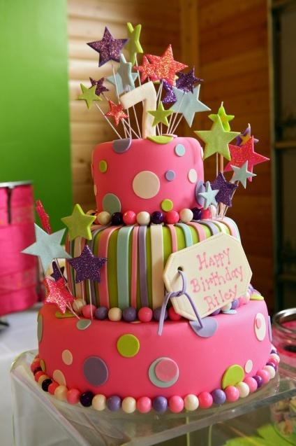 7th birthday cake birthdays pinterest for Decoration ideas 7th birthday party