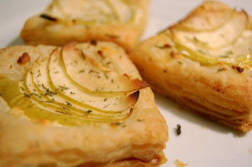 ... . And now I want a goat cheese and apple tart. This one looks good