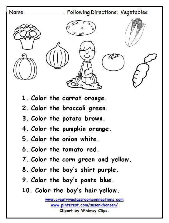 Direction worksheets for grade 5