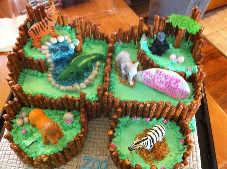 Cake Decoration Zoo : Zoo cake Birthday cakes Pinterest