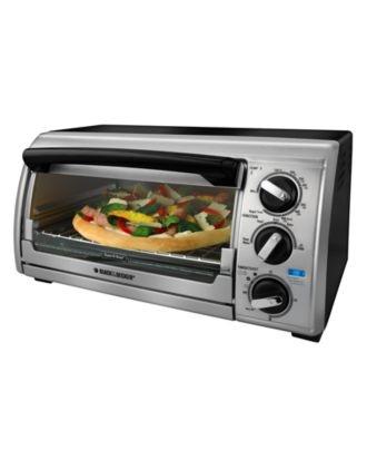 black amp decker tro480 toaster oven 4 slice electrics kitchen macy s ...