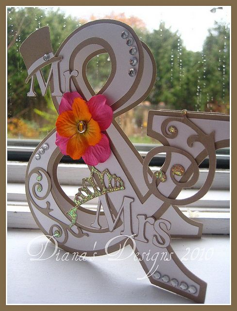 Ampersand Wedding Card (Mr. & Mrs.) by Diana - Teacher Mom, via Flickr