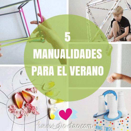 5 manualidades para ni os en verano manualidades para el - Manualidades decorativas para el hogar ...