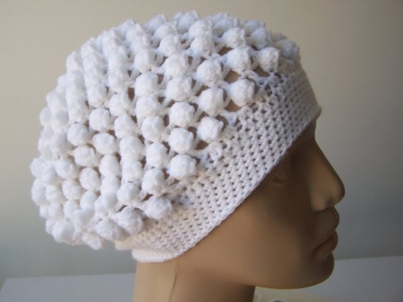 Knit Popcorn Stitch Hat Pattern : crochet beanie. Popcorn stitch Crochet Headwear Pinterest