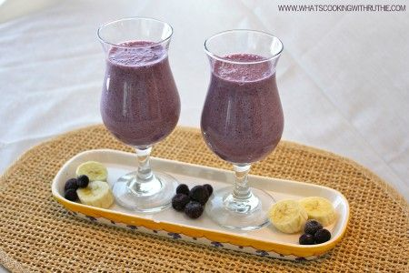Blueberry Banana Smoothie Recipe.