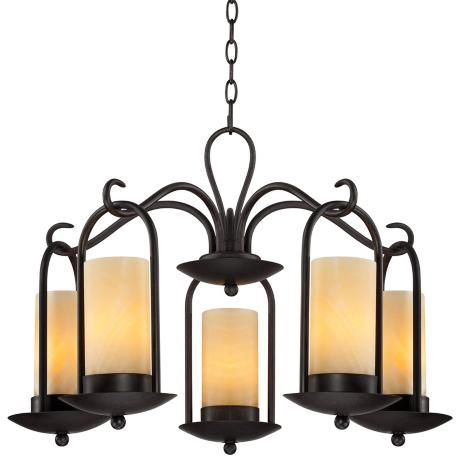 onyx faux candle 30 quot wide espresso outdoor chandelier