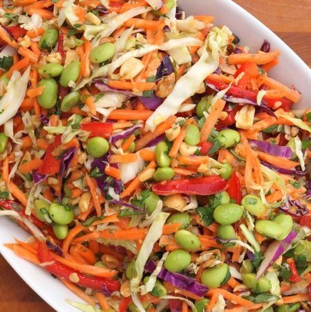 ... mcclements & metrocurean: Asian Slaw with Ginger-Peanut Dressing