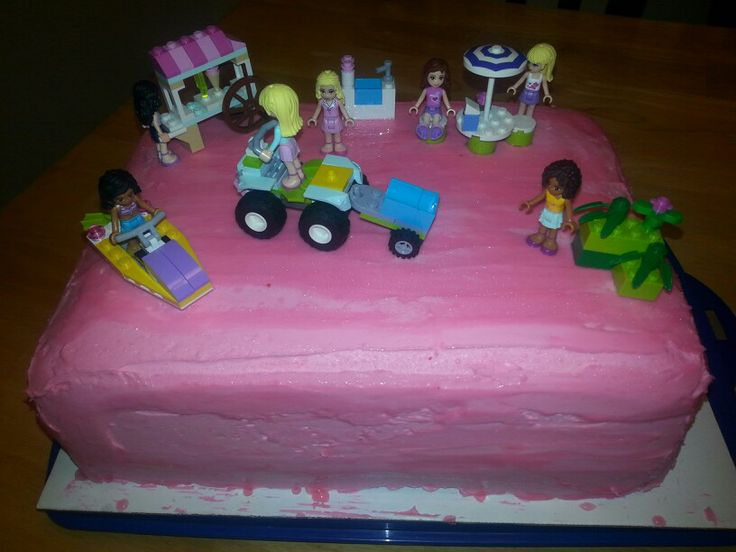 Girls lego cake Cakes Pinterest