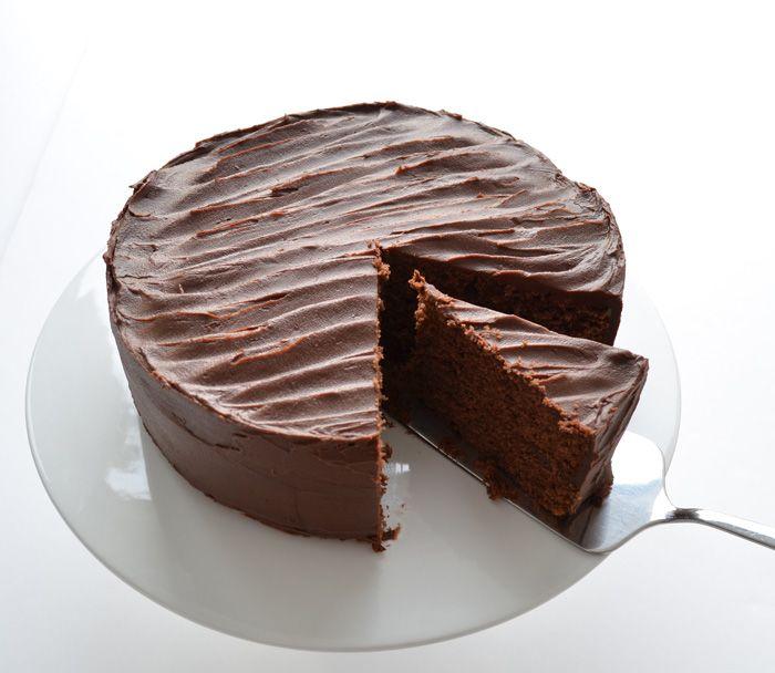 Chocolate Cake with Caramel Chocolate Icing