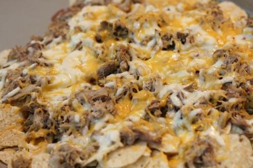 Spicy Shredded Pork Nachos | Food and drink | Pinterest
