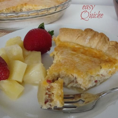 Easy Quiche from Chocolate Chocolate and more