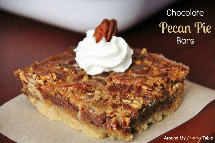 Chocolate Pecan Pie Bars | Recipe