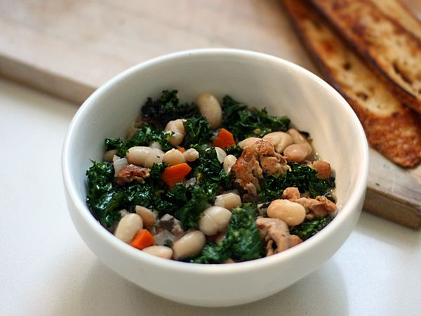 Sausage, Kale, and Cannellini Bean Stew {recipe} – Made a Point ...