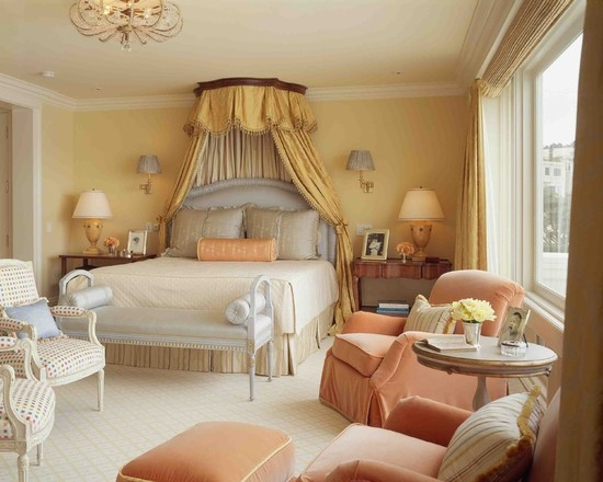 Peach With Blue And Yellow For Bedroom For The Home