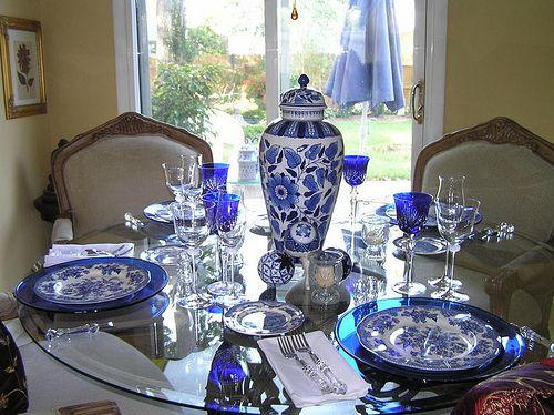 Pretty Tablescape Blue And White Pinterest