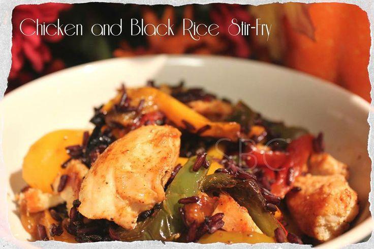 CHICKEN AND BLACK RICE STIR-FRY Ingredients 4 chicken breasts, cubed 1 ...