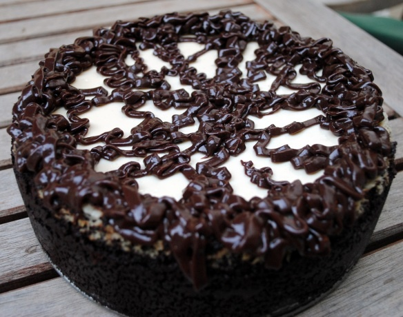 Cappuccino fudge cheesecake Need to try this