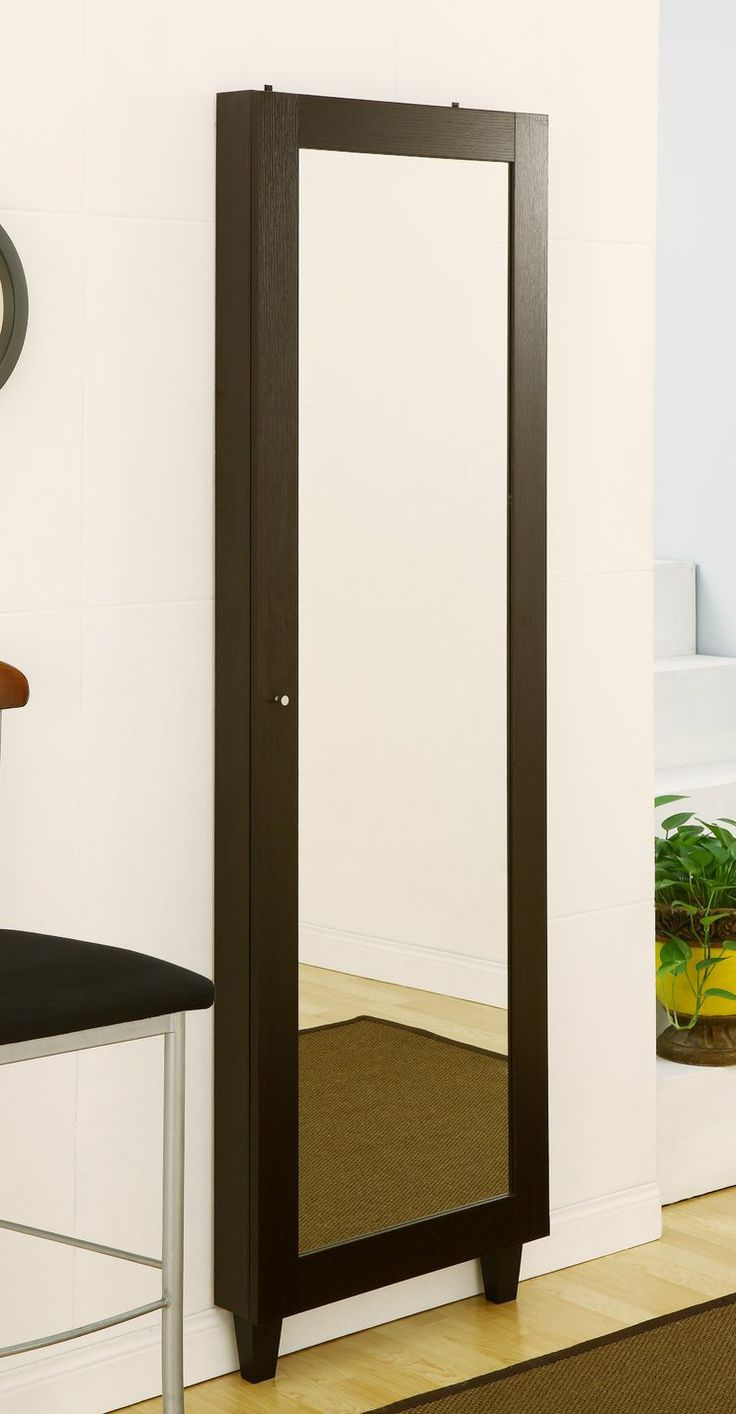Wall Mount Jewelry Armoire : Claire Wall Mounted Jewelry Armoire with Mirror