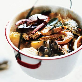 Bouillabaisse [amazing seafood stew with lobster, white fish, clams ...