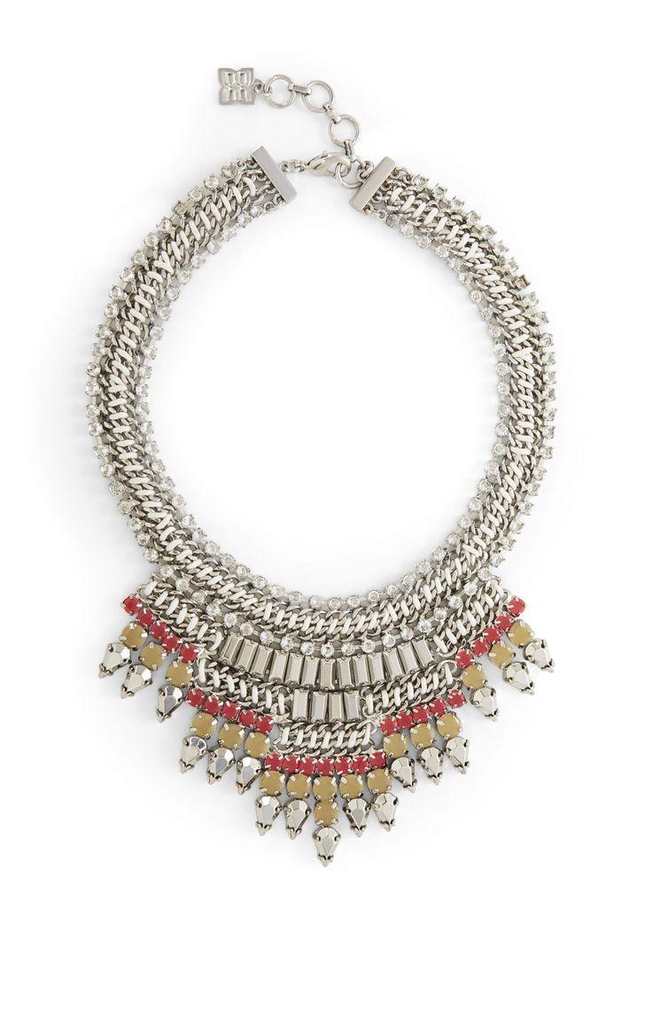 baguette statement necklace bcbg jewelry