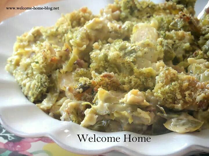 Brussel sprouts au gratin | recipes | Pinterest