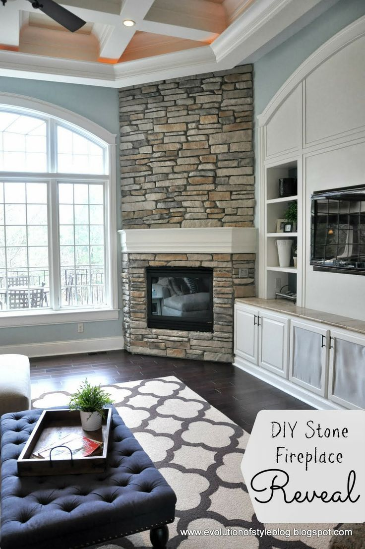 Fireplace In Corner Tv In Built Ins Master Redo Pinterest