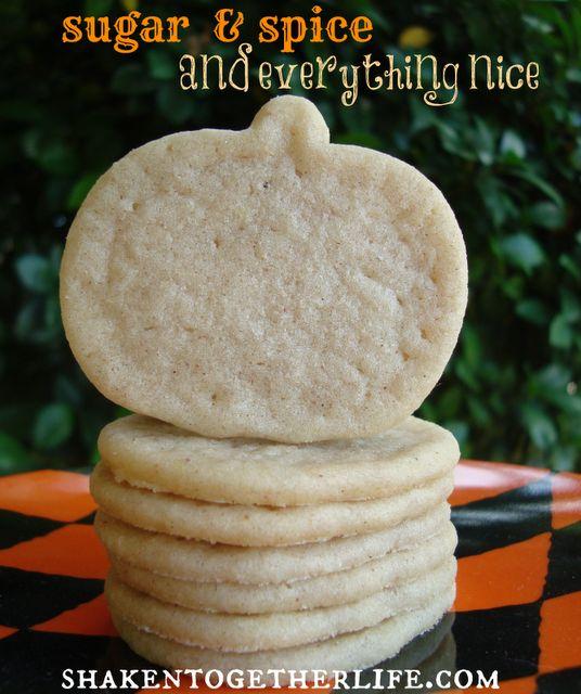 shaken together: {taste this} pumpkin spice sugar cookies