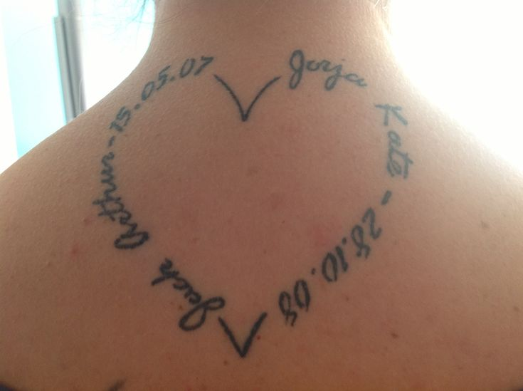 Heart Tattoo With Names