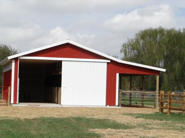 24 X 30 Pole Barn With Lean To