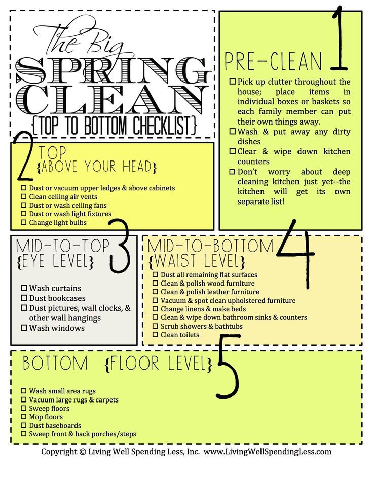 Awesome Spring Cleaning Checklist Cleaning Pinterest