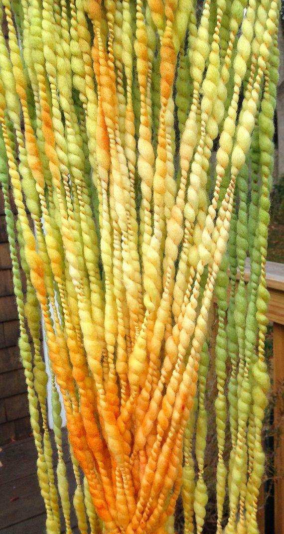 Handspun Yarn : Handspun Yarn MULTI CLOUD 7-bulky merino, plied yarn,crochet knitting ...