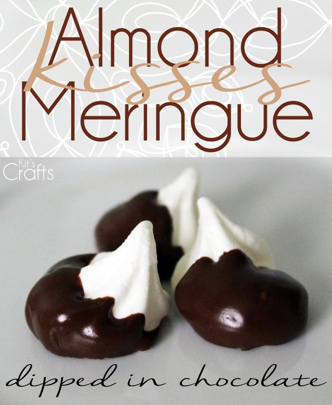 chocolate dipped almond meringues meringue bites dipped in chocolate ...