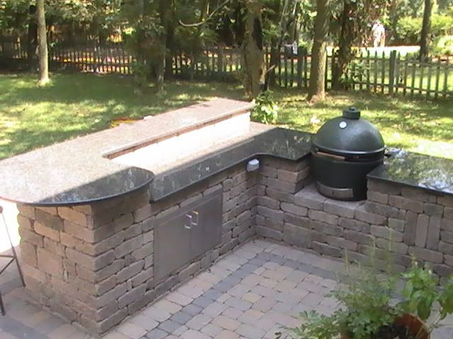big green egg outdoor kitchen back yard pinterest