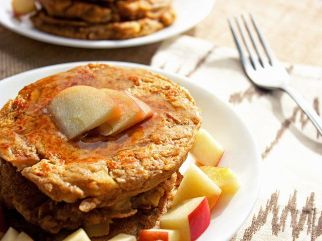Pancakes with Sweet Potato and Apple - Food Faith Fitness